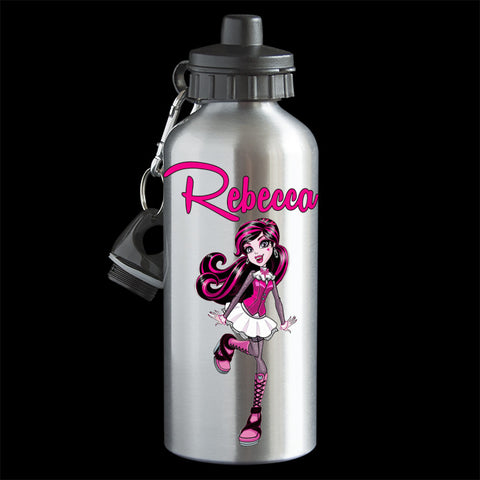 Personalised Draculaura Water Bottle, Monster High Draculaura Drink Bottle