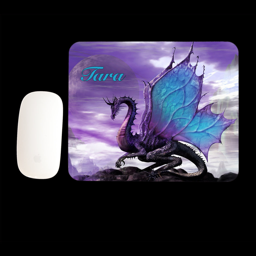 Personalised Purple Dragon Mouse pad