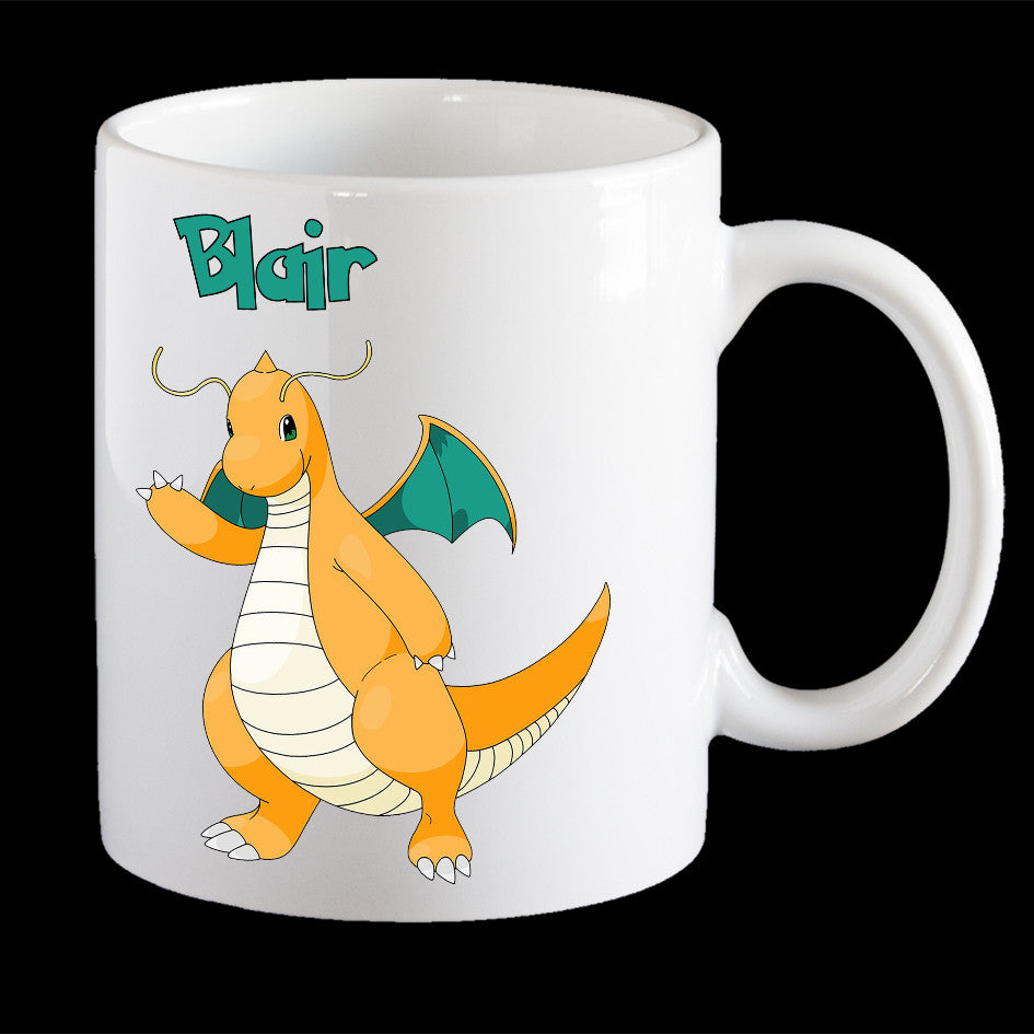 Personalised Pokemon Dragonite Coffee Mug