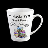 book reader tea drinker mug, funny bookworm mug