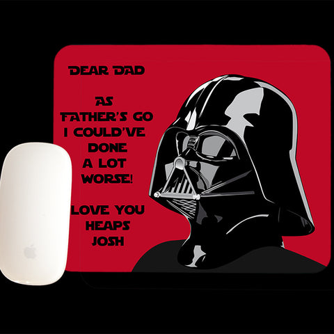 Personalised Darth Vader Star Wars Mouse Pad