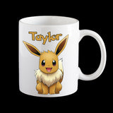 Personalised Pokemon Eevee Coffee Mug