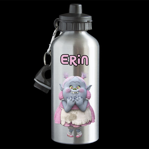 Personalised Bridget Trolls movie Water Bottle, Trolls Bridget drink bottle