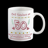 50th birthday coffee mug