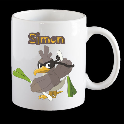 Personalised Pokemon Farfetch'd Coffee Mug, Farfetch'd plastic cup