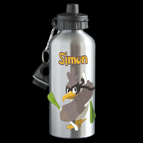 Personalised Farfetch'd Pokemon Water Bottle, Farfetch'd Drink bottle