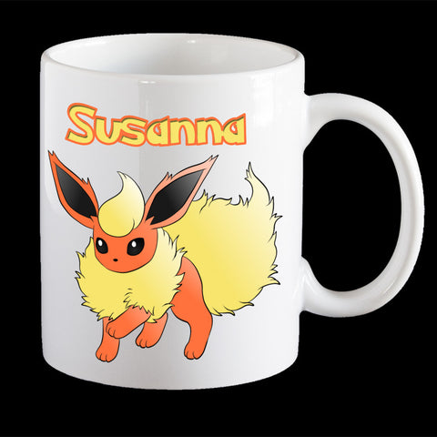 Personalised Flareon Pokemon Mug, Flareon Pokemon Go mug