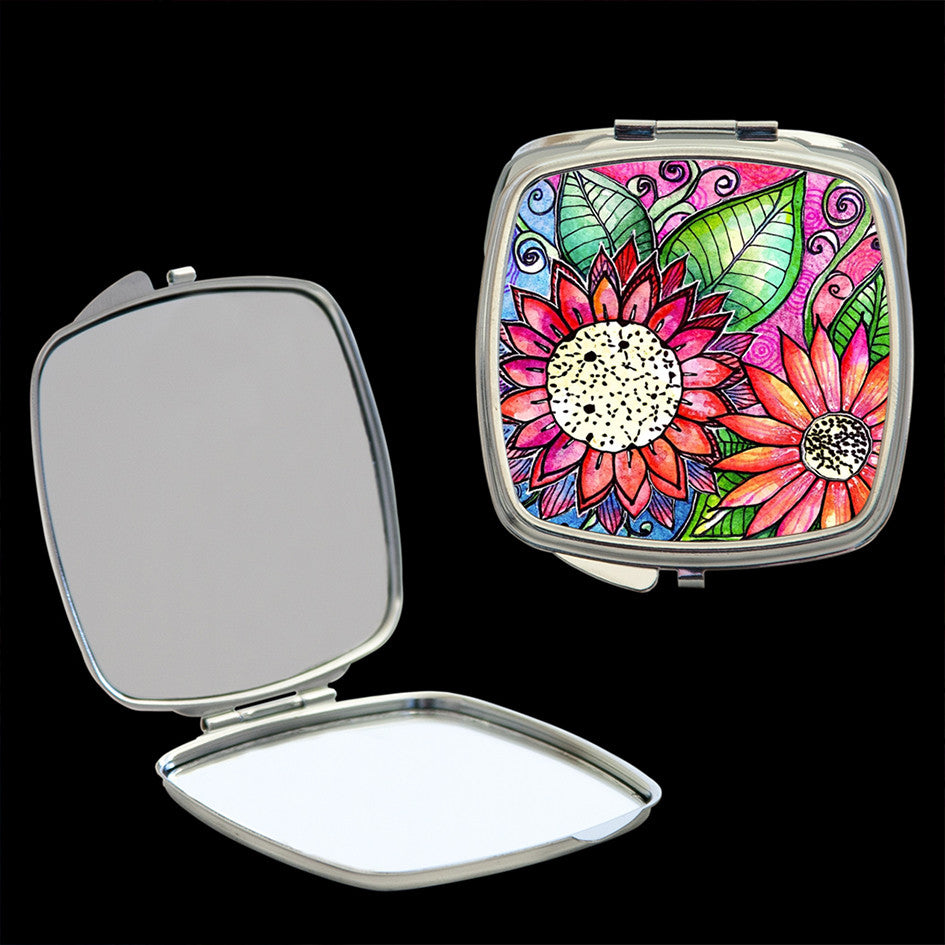 Mirror Compact, Flowers