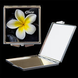 Yellow Frangipani mirror comapct
