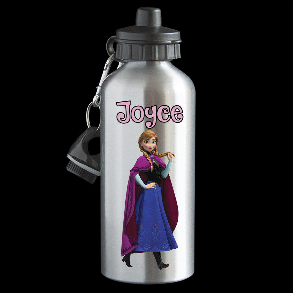 Personalised Frozen Anna Water Bottle, Frozen Anna Drink Bottle