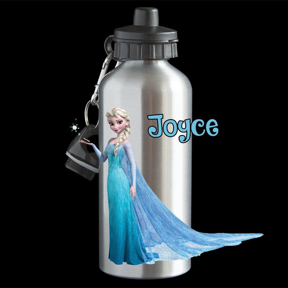 Personalised Frozen Elsa Water Bottle, Frozen Elsa Drink Bottle