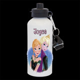 Personalised Frozen Anna and Elsa Water Bottle, Frozen sisters Drink Bottle