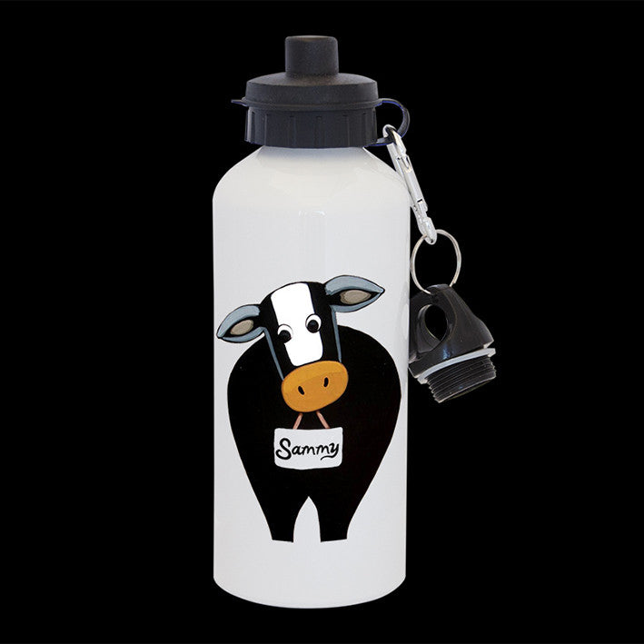 Personalised Funny Cow Water Bottle