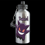 Personalised Gengar Water Bottle, Pokemon Gengar Aluminium drink bottle