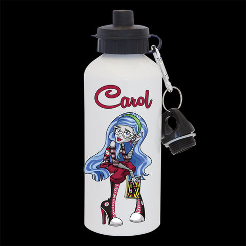 Personalised Ghoulia Yelps Water Bottle, Monster High Ghoulia Yelps Drink Bottle