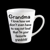 Personalised Favourite Grandchild Nanna/Grandma Coffee Mug, Grandmother gift