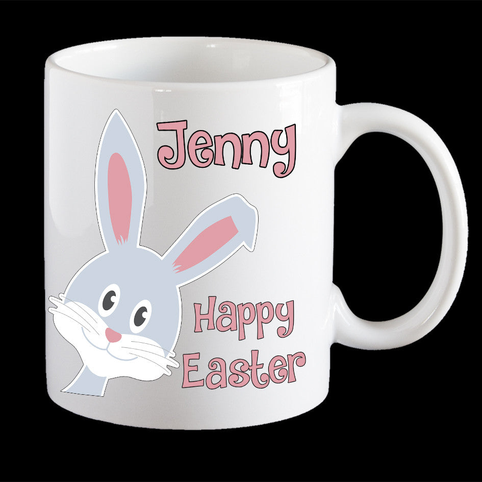 Personalised Easter Bunny kids plastic mug, Coffee Mug, Easter Mug