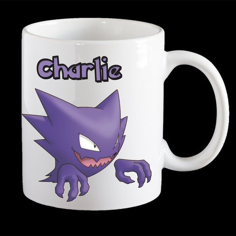 Personalised Pokemon Haunted Coffee Mug, Haunted plastic cup