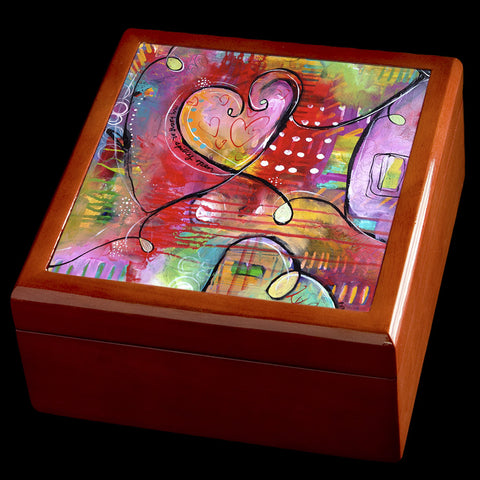 Valentines Day Jewellery box with hearts
