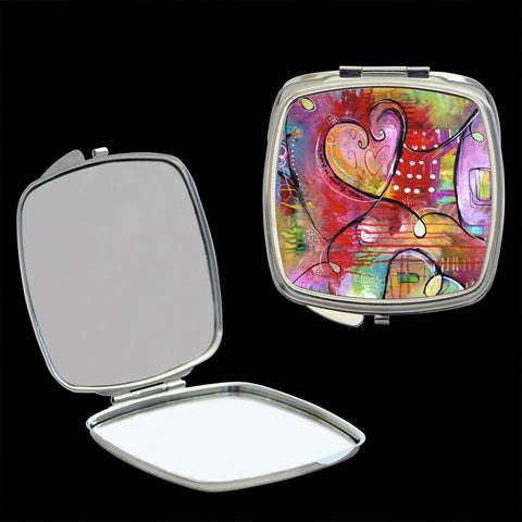 Mirror Compact, Heart Art