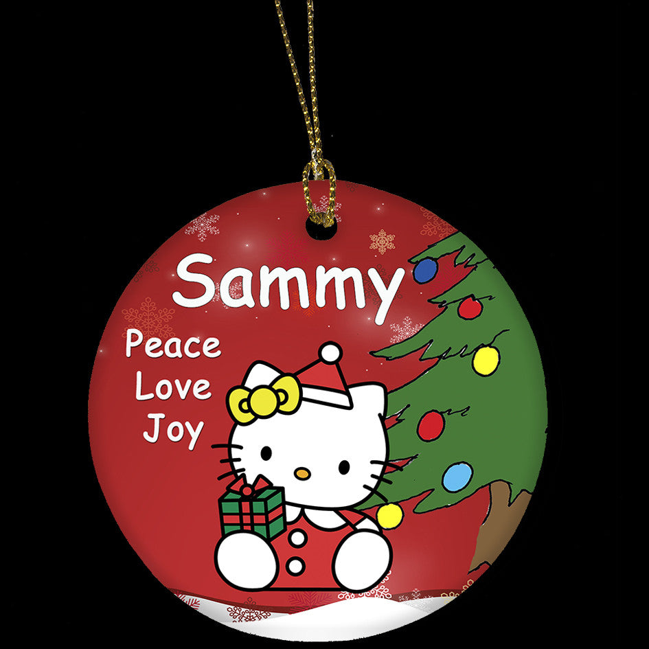 Personalised Hello Kitty Christmas ornament