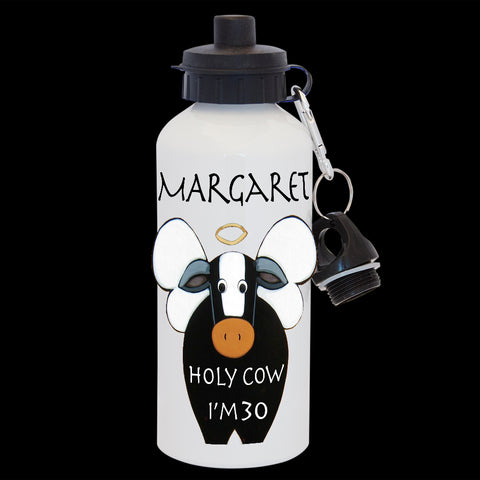 18th birthday Funny Personalised water bottle, Holy Cow I'm 18, 18th birthday card drink Bottle