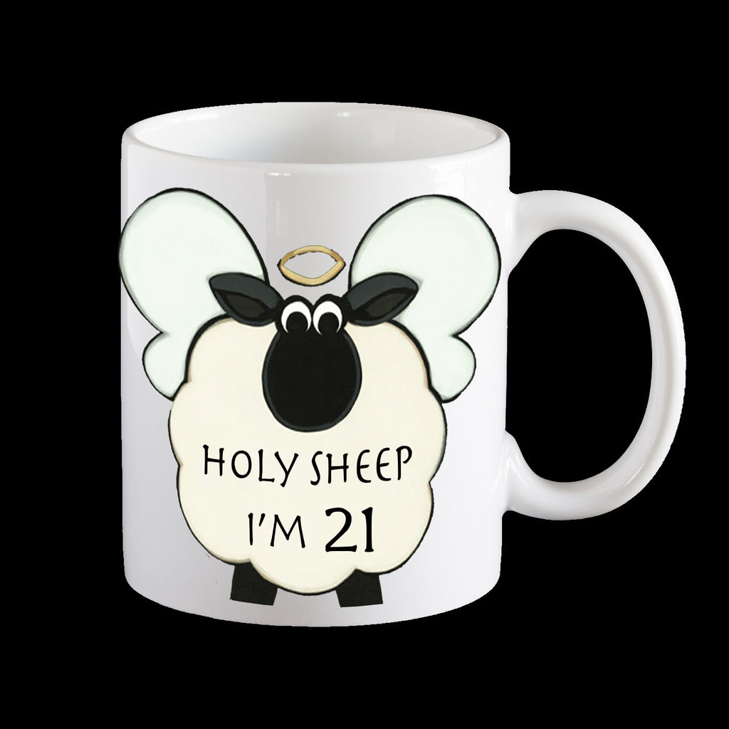 21st holy sheep mug, 21st birthday mug
