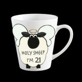 21st birthday mug, funny cow mug