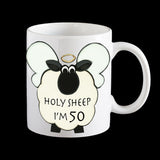 50th birthday mug, holy sheep I'm 50