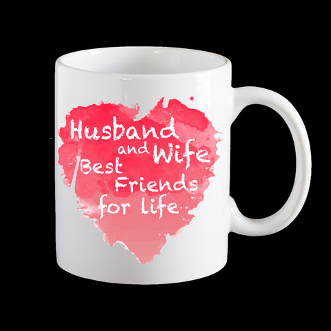Husband and Wife Valentine's Day coffee mug, Wife and Wife, Husband and husband