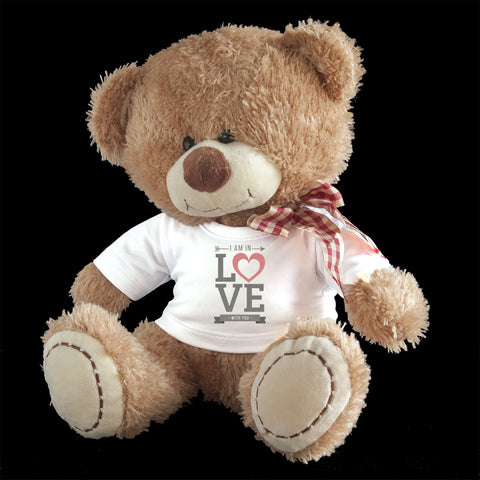 Personalised I am in love with you Teddy Bear, Valentine's day teddy bear gift