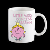 Little Miss Princess Funny Personalised Coffee Mug, LIttle Miss Mr Men