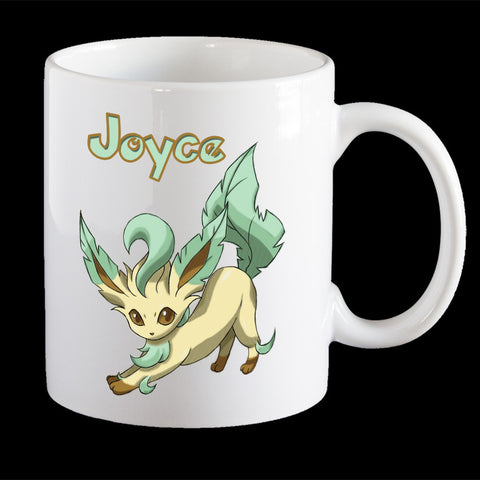 Personalised Leafeon Pokemon Mug, Leafeon Pokemon Go mug