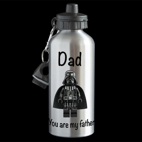 Funny Father's Day Water Bottle, You are my Father Darth Vader Star Wars water bottle
