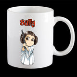 Personalised Princess Leia Star Wars Coffee Mug, Princess Leia Plastic Mug