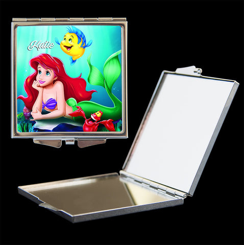 Little Mermaid Ariel personalised make up mirror