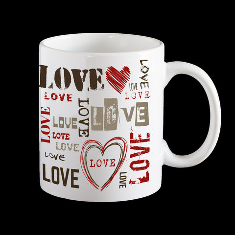 Love Valentine's Day coffee mug, Love mug, Valentines Day gift