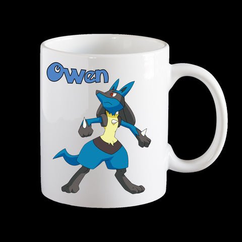 Personalised Pokemon Lucario Coffee Mug
