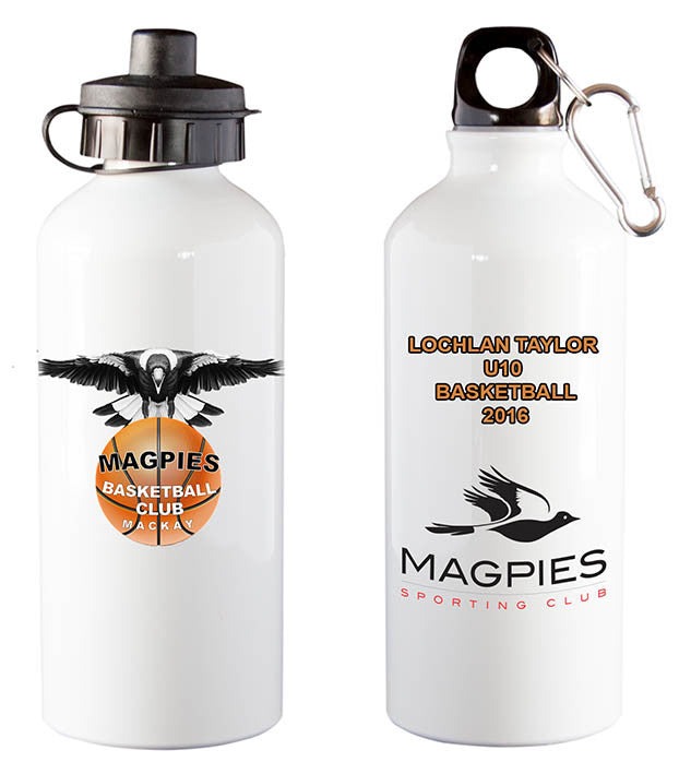 Magpies Basketball Water Bottle