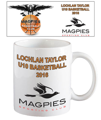 Magpies Basketball Coffee Mug