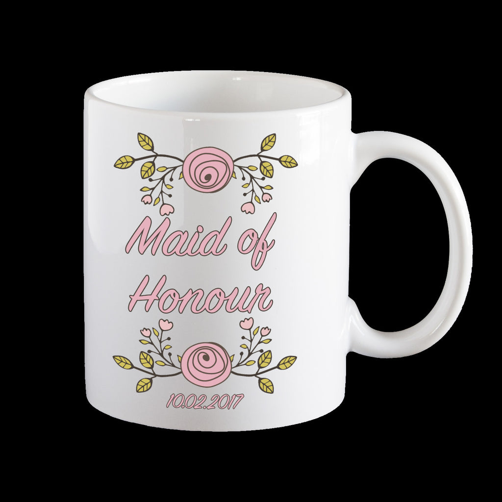 Maid of Honour Personalised Mug, Wedding mug