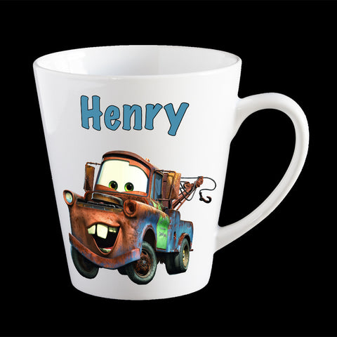 "Personalised Mater ""Cars"" Mug, Cars movie kids mug"