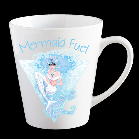 Mermaid Fuel Coffee Mug, Mermaid Fuel Latte Mug