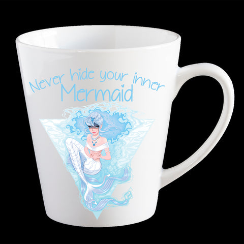 Mermaid Coffee Mug, Funny Never hide your inner Mermaid Latte Mug