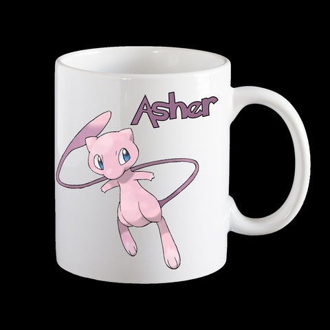 Personalised Mew Pokemon Mug