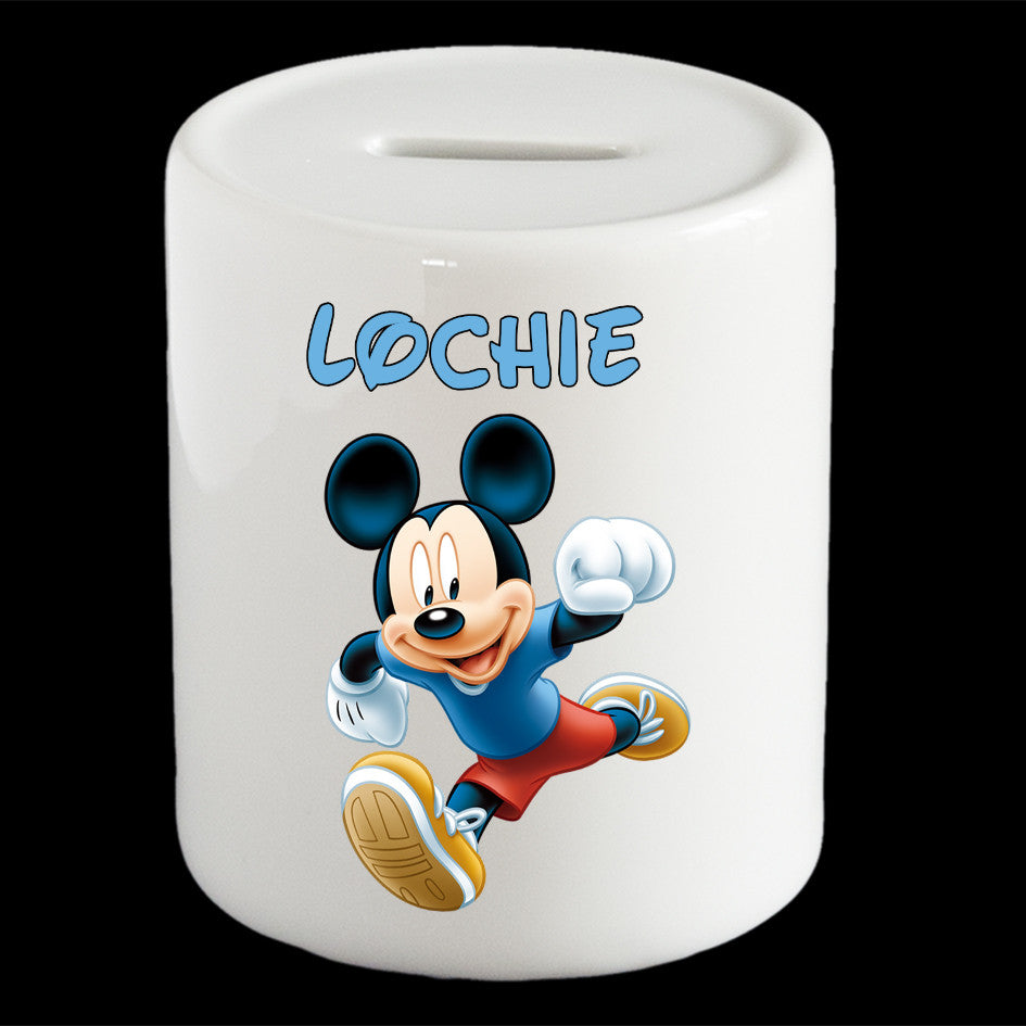 Mickey Mouse Disney piggy bank personalised