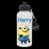 Personalised Minion Water Bottle, Minion Stuart personalised Drink Bottle