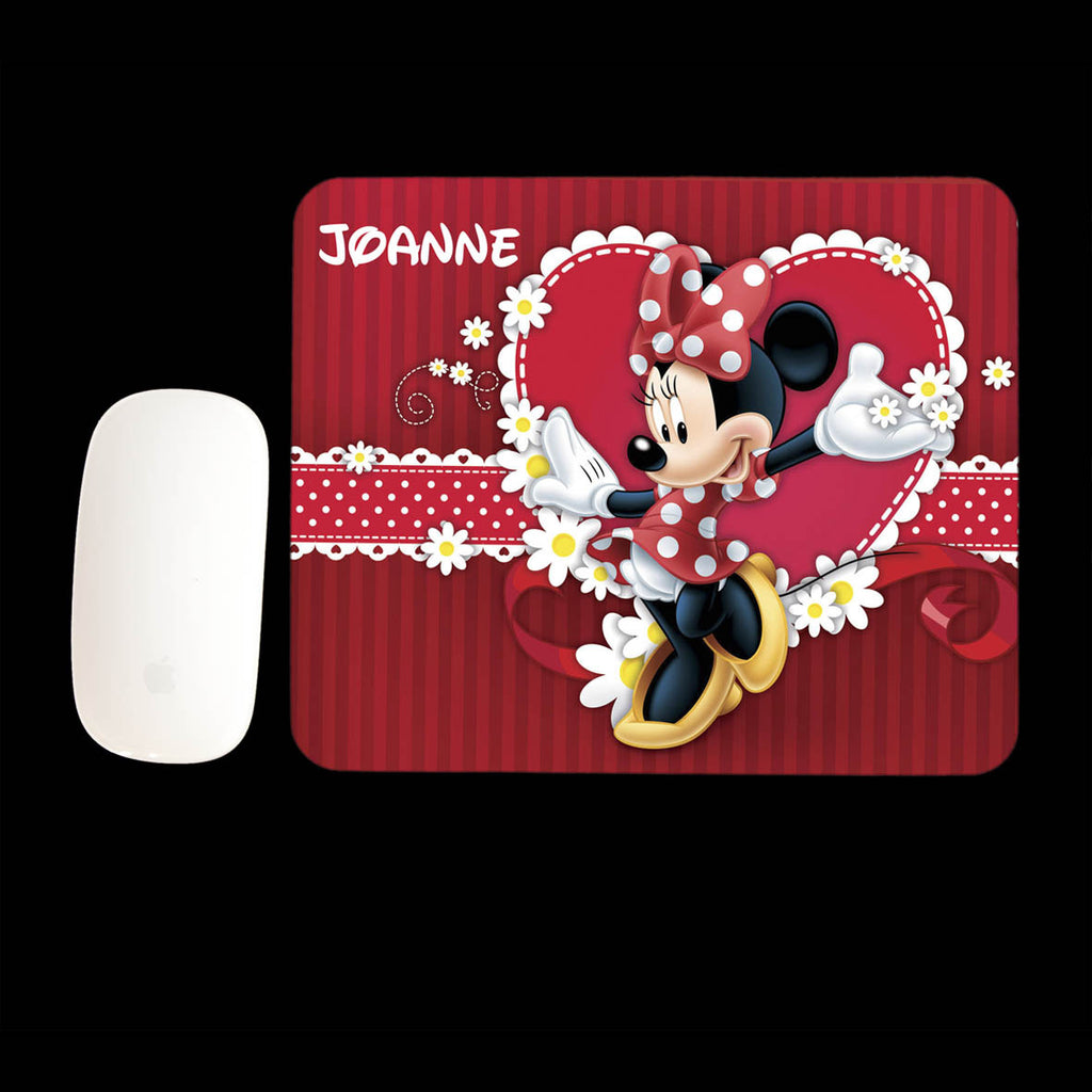 Personalised Minnie Mouse Mouse Pad, Minnie Mouse Mouse mat