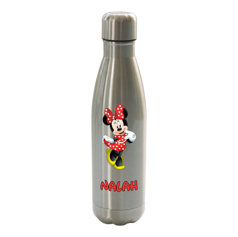 Minnie Mouse Personalised Stainless Steel Double wall Thermos Drink travel Water Bottle 500ml