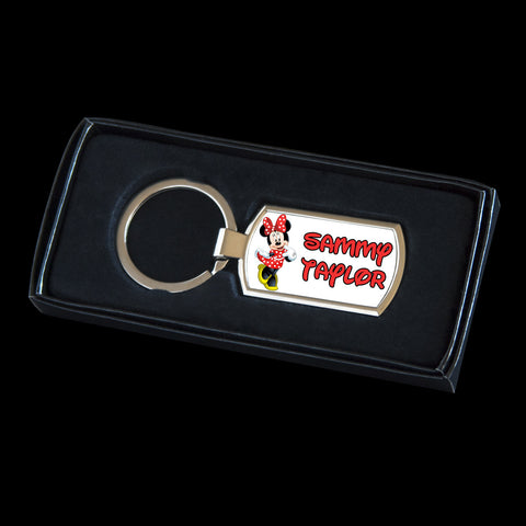 Personalised Minnie mouse Keyring